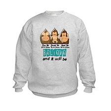 See Speak Hear No Thyroid Disease 3 Sweatshirt