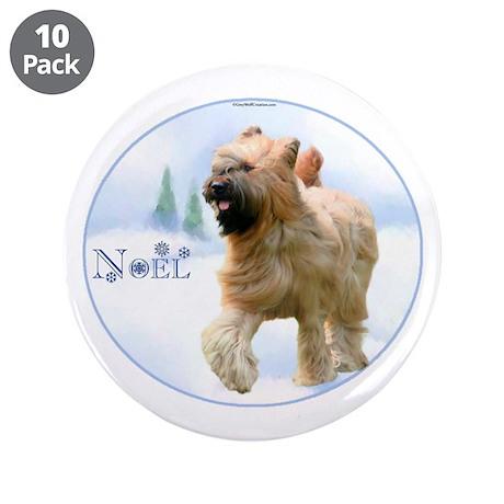 "Briard Noel 3.5"" Button (10 pack)"