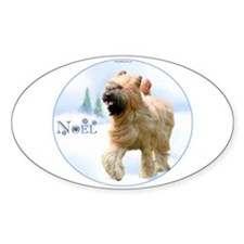 Briard Noel Oval Decal