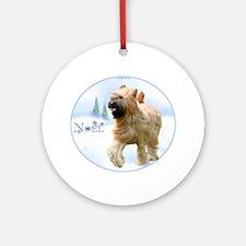 Briard Noel Ornament (Round)