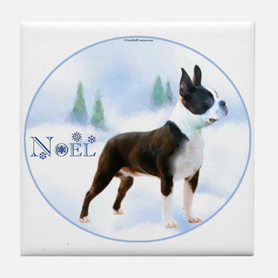 Boston Noel Tile Coaster