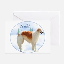 Borzoi Noel Greeting Card