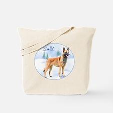 Malinois Noel Tote Bag