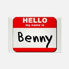 Hello my name is Benny Rectangle Magnet