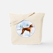 Basenji Noel Tote Bag