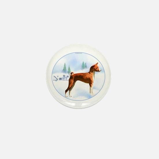 Basenji Noel Mini Button