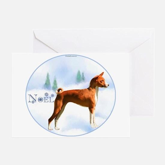Basenji Noel Greeting Card