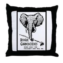 Rogue Garden Hoes Throw Pillow