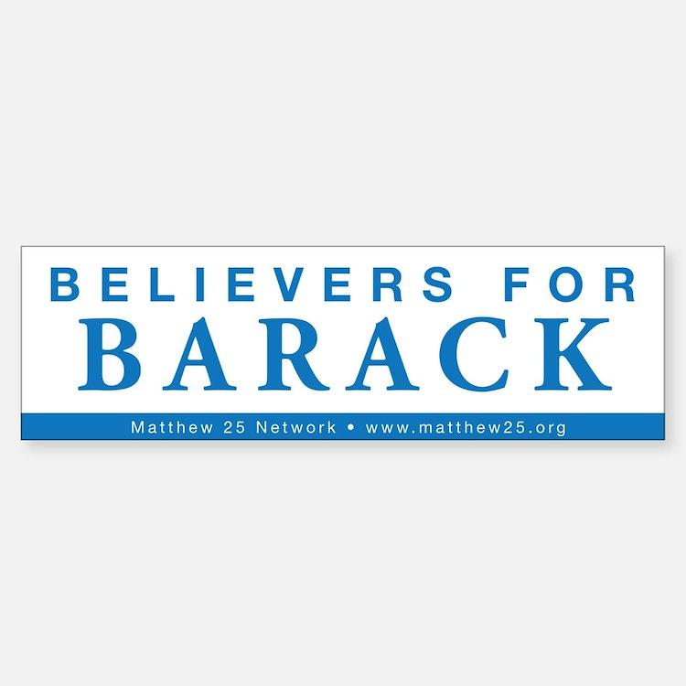 Believers for Barack Bumper Bumper Bumper Sticker