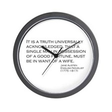 Jane Austin Quote Wall Clock