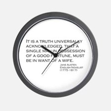 Jane Austin Quote Wall Clock