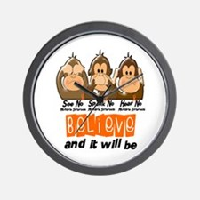 See Speak Hear No MS 3 Wall Clock