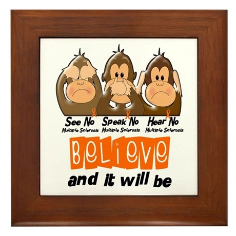 See Speak Hear No MS 3 Framed Tile