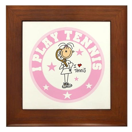 Girl I Play Tennis Framed Tile