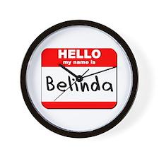 Hello my name is Belinda Wall Clock