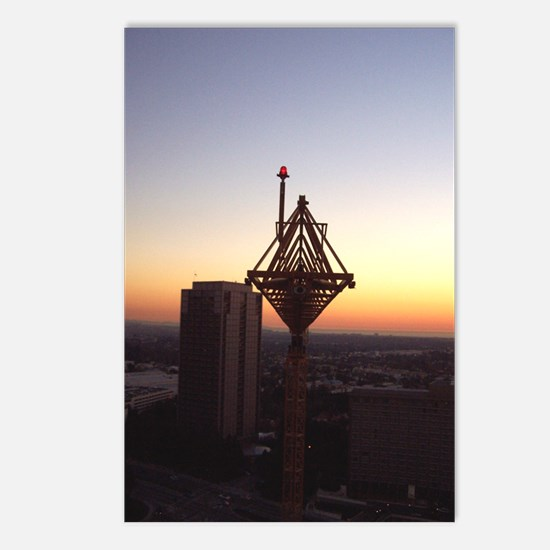 Day's End Crane with Building Postcards (Package o