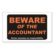 Beware / Accountant Rectangle Decal