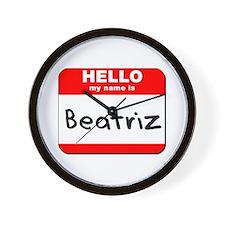 Hello my name is Beatriz Wall Clock