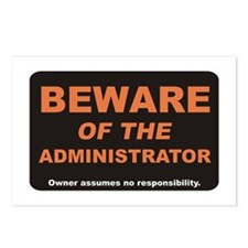 Beware / Administrator Postcards (Package of 8)
