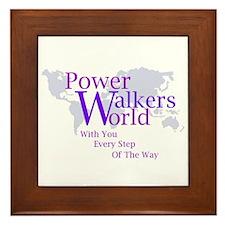Power Walkers World Framed Tile