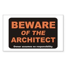Beware / Architect Rectangle Decal
