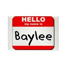 Hello my name is Baylee Rectangle Magnet