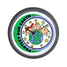 Protect Our Earth Wall Clock