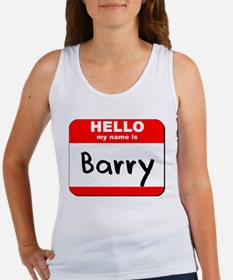 Hello my name is Barry Women's Tank Top