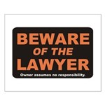 Beware / Lawyer Small Poster