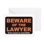 Beware / Lawyer Greeting Card