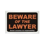 Beware / Lawyer Rectangle Magnet