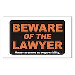 Beware / Lawyer Rectangle Sticker