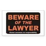 Beware / Lawyer Rectangle Sticker 50 pk)