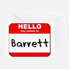 Hello my name is Barrett Greeting Card
