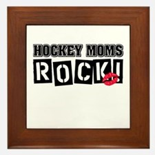 Hockey Moms Rock Framed Tile