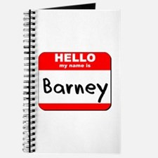 Hello my name is Barney Journal