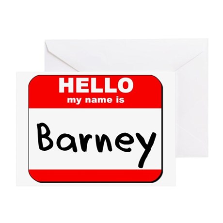 Hello my name is Barney Greeting Card
