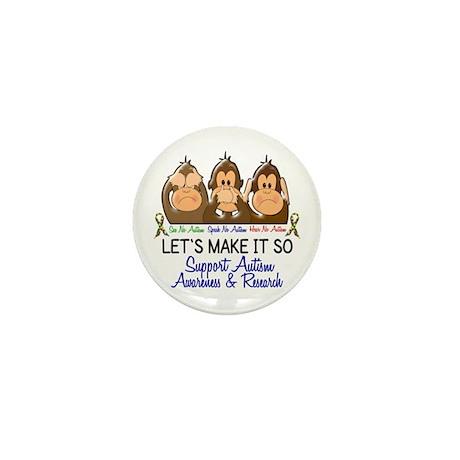 See Speak Hear No Autism 2 Mini Button