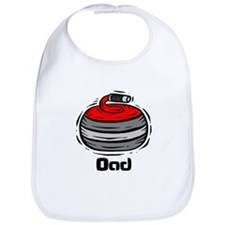 Curling Curler Curl Dad Bib