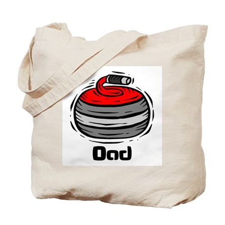 Curling Curler Curl Dad Tote Bag