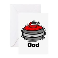 Curling Curler Curl Dad Greeting Card