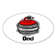 Curling Curler Curl Dad Oval Decal