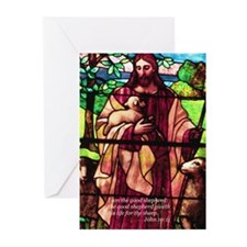 Jesus the Good Shepherd Greeting Cards (Package of