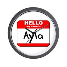 Hello my name is Ayla Wall Clock
