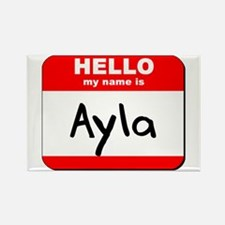 Hello my name is Ayla Rectangle Magnet