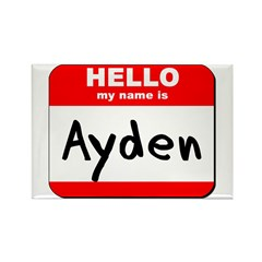 Hello my name is Ayden Rectangle Magnet (10 pack)