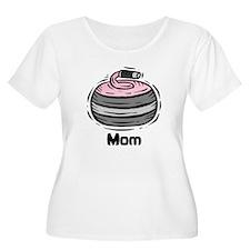 Curling Curler Curl Mom T-Shirt