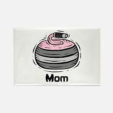 Curling Curler Curl Mom Rectangle Magnet