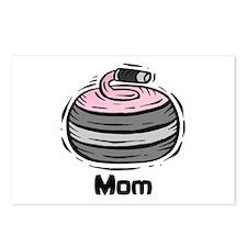 Curling Curler Curl Mom Postcards (Package of 8)