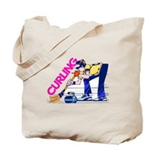 Curling Curler Curl Tote Bag